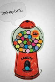 Rude Gumball Machine