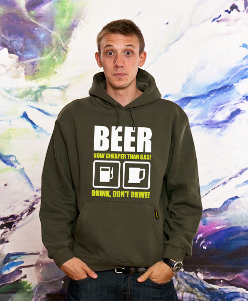 Beer Now Cheaper Than Gas!, Unisex