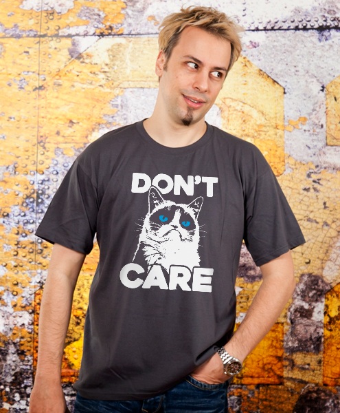 Grumpy Cat - Don't Care, Men